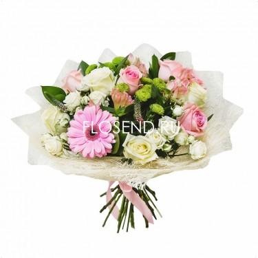 Букет герберой и другими цветами